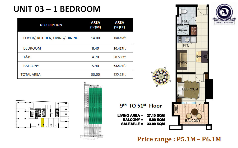 UNIT 03- 1 BEDROOM