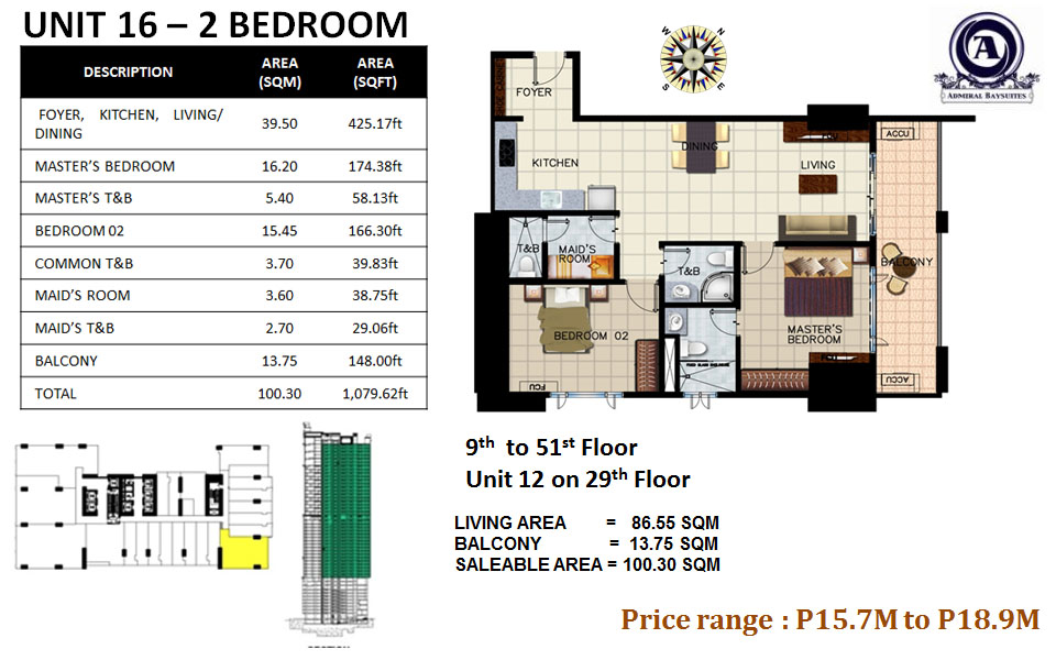 UNIT 16-2 BEDROOM