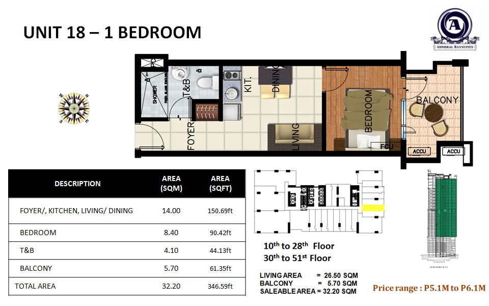 Unit 18-1 bedroom
