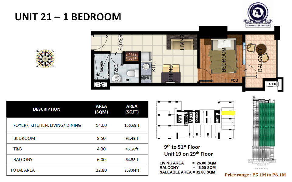 Unit 21 - 1 bedroom